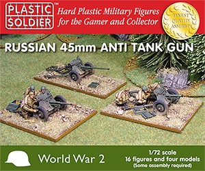 Plastic Soldier 2G20001 Russian 45mm anti tank gun